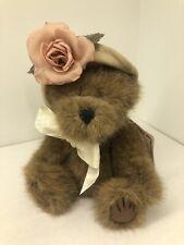Boyds Bears Lynette Bearlove #918433 2000 6� Plush w/Khaki Hat Cream Bow Nwt
