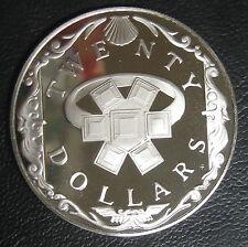 ILES VIERGES BRITANNIQUES - 20 DOLLARS 1985 - Argent - N°8