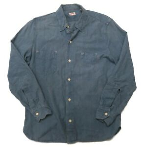 Levis Vintage Clothing LVC Blue 1920'S Two Pocket Sunset Button Shirt Small Mens