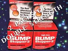 2 OF HIGH TIME BUMP STOPPER-2 DOUBLE STRENGTH SKIN RAZOR BUMP TREATMENT 0.5oz