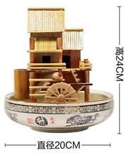 Bamboo Handmade Handcrafted Indoor Water Feature Flowing Water Wheels Home Decor