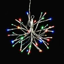 """10"""" Silver STARBURST With 48 LED Multicolor CHRISTMAS Lights Raz Imports 3937015"""