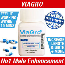 VIAGRO MALE PENIS ENLARGEMENT SEX PILLS & POTENT TESTOSTERONE LIBIDO ENHANCEMENT