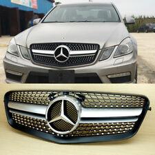 Mercedes Benz E-Class W212 E63AMG Look Silver Diamond Front Grille 2010-13