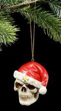 Totenkopf Weihnachts Deko - Santa is Dead - Schädel Christbaumschmuck Gothic
