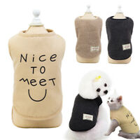 Small Pet Coat Winter Apparel Clothes Dog Warm Fleece Vest Puppy Shirt Sweater