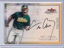 2000 Fleer Autographics Autograph Eric Chavez 153/250