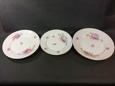 Satz von 3 -schalen Service Tischdeko aus Keramik Dekor Blumen Vintage