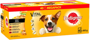 Pedigree Vital Protection Dog Food Pouches Mixed Selection in Gravy 40 x 100g