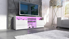 "White High Gloss Modern TV Stand Unit Media Entertainment Center ""Granada"""
