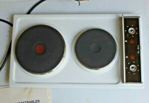 ELBA 2 Burner  Electric Cooking Hob   WHITE -  New Old Stock