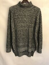Morning Aplle Women's Sweater Dress Size L High Neck Acrylic Grey NWT