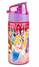 Disney Store Princess Cinderella Mulan Rapunzel Pocahontas Belle Water Bottle