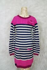 Deux Par Deux Boutique Girl Sz 8 Chunky Knit Sweater Dress Long Sleeve Striped A