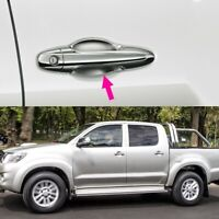 Chrome Exterior Door Handle Protector Cover + Bowl Cover for Toyota Hilux V C5O2