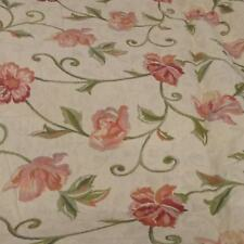 Tapestry Brocade  Upholstery Fabric pink Cream Floral Design 1.34 mtrs