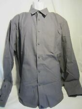 UNTUCKit gray wrinkle free LS shirt cotton MEN XXL