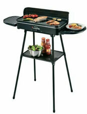 BBQ 2-in-1 Electric Tabletop &Free- Standing Barbecue Garden Outdoor Silvercrest