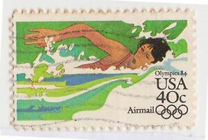 (UST-415) 1982 USA 40c swimming Olympics (space filler) (E) air mail