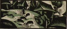 Original - vintage linocut - Slovak graphic art