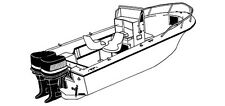 STYLED TO FIT BOAT COVER for ROBALO 2320 CC W/ BOW PULPIT W/ TWIN O/B 1992-1995