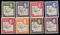 Falkland Islands 1946 SG G1-G8 MNH 100% King George VI, Map