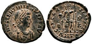 VALENTINIAN II (378-383 AD) Ae3 Follis. Antioch #VR 8244