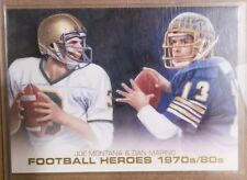 2014 Upper Deck Football Heroes Dan Marino Joe Montana CFH-ART