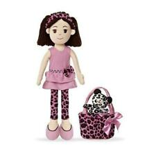 "Aurora World Plush Doll 14"" inch Dolls Pinky Promise Leopard Dress  - NWT"