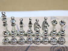 1/5/10 Antique silver copper lovely delicate international chess Charm Pendant