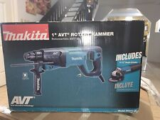 "NEW Makita HR2641X1 SDS-PLUS AVT Rotary Hammer with Case w/ 4 1/2"" Angle Grinder"