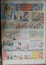 Camel Cigarette Ad: Minnesota vs. Nebraska Football Full Page Size! from 1936