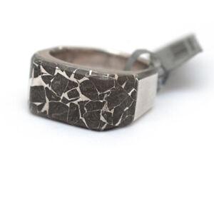 NWT DAVID YURMAN Men's Fused Meteorite & Silver 3 Sided Signet Ring Size 10.5