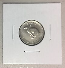 CANADA 1967 New 5 Cents Nickel in MS-63 (BU directly from mint roll)