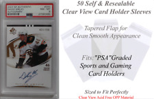 2 X (50) = (100) Superior Fit Clear Sleeves for PSA Graded Sports Card Slabs