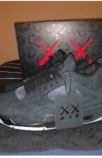 Kaws X Air Jordan 4 Retro Black-Black Clear Glow Size 11