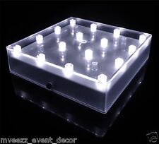 VASE BASE LUMINATOR SQUARE LED LIGHT WEDDING EVENT PARTY CENTERPIECE DECORATION