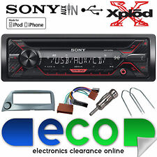 Ford KA 96-08 Sony CDX-G1200U CD MP3 USB Aux Iphone Car Radio Stereo Kit Silver