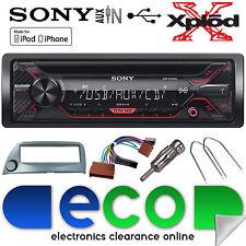 FORD KA 96-08 Sony CDX-G1200U CD MP3 USB AUX iPhone Autoradio Stereo KIT D'ARGENTO