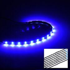 8x 15LED Flexible Blue Bumper Grille Lights Lamp Strip Car Auto Truck Decoration