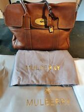 Mulberry Bayswater Large Handbag Oak Natural Grain With Dust bag