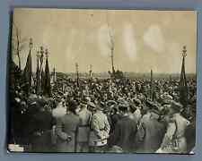 France, Inauguration du Monument aux Morts 1914-1918  Vintage silver print.