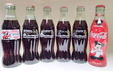 Coca-Cola Bottles (6) Disney's 25th Set 1,2,3,4 Mickey 75, Mickey Toontown + 6pk