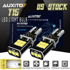 CANBUS Error Free T15 921 LED Sidemarkers Reverse Backup Light Bulbs W16W 6500K