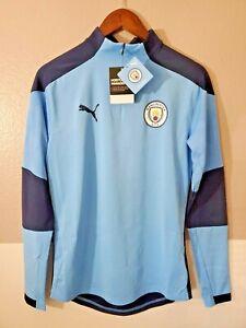 Puma 2020-21 Manchester City FC 1/4-Zip Long Sleeve Shirt EPL Soccer Team 2XL