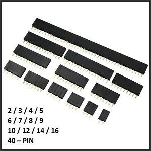 5x Buchsenleiste 2.54mm weiblich Pin Header Single Row f. Arduino Raspberry Pi
