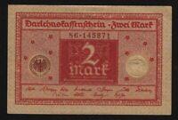 1920 Germany 2 mark banknote crisp uncirculated P-59