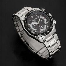 50m Waterproof Men`s Super Racing Sport Stainless Steel Stylish Quartz Watches
