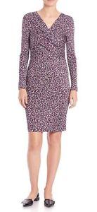 NWT Tory Burch Twist Front Printed Silk Dress Size L