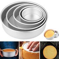 2/4/6/8/10 Inch Aluminum Alloy Round Cake Pan Tins Baking Mould Bakewar JDE